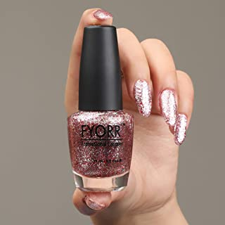FYORR Daimond Shine Pink Star Long Lasting Glitter Nail Paint, 15 ml
