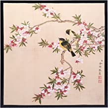 INKWASH Chinese Abstract Love Ink Paintings Hang Wall of Love Birds Spring Song on Flowers Tree Art Wall for Living Room Ready to Hang Framed 13
