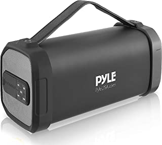 Pyle PBMSQG9 Compact & Portable Bluetooth Wireless Speaker with Built-in Rechargeable Battery MP3/USB/Micro SD Reader FM R...
