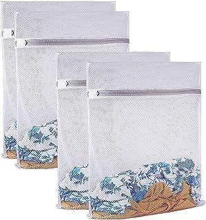 Sac à linge robuste en maille fine pour machine à laver, fermeture éclair, sac à linge pour voyage, lingerie, pull, vêteme...