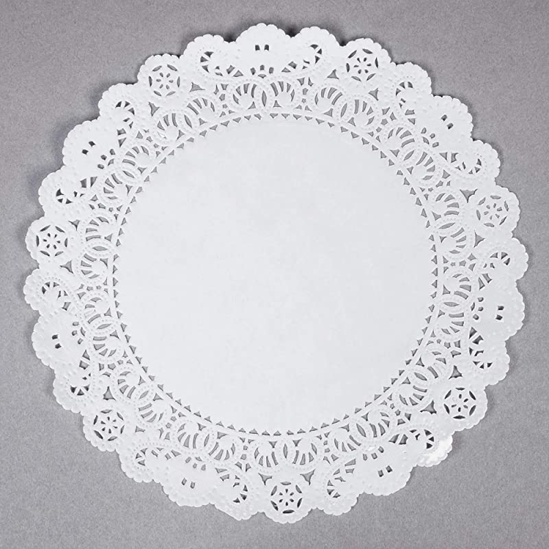 Round White Normandy Lace Paper Doilies 100 Count 8 Inch