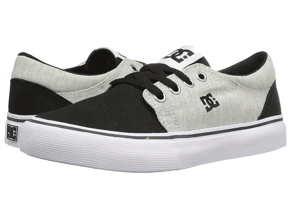 DC Kids Trase TX SE (Little Kid/Big Kid) (Black/White/Black) Boys Shoes