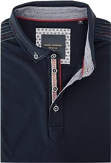 Contrast Shoulder Stitch Mens Polo Shirt SJ4867