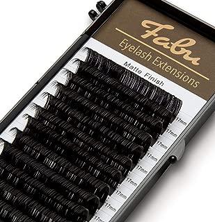 Fabu Individual Classic Eyelash Extensions, Thickness/Diameter 0.15, D Curl, ONE LENGTH PER TRAY (17mm)