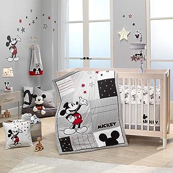 Blue Lambs /& Ivy My Little Snoopy 4-Piece Crib Bedding Set White Gray