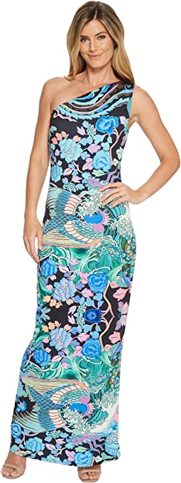 Hale Bob Fortune Favors the Bold Matte Microfiber Jersey Maxi Dress