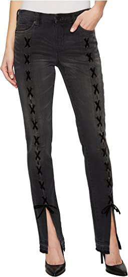 Blank NYC - Skinny Classique with Lace-Up At Front Legs in Crash Tactics