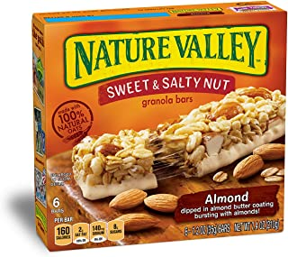 Nature Valley Granola Bars, Sweet and Salty Nut, Almond, 6 Bars - 1.2 oz