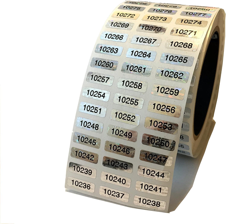 5 000 Sale Silver Hologram Numbered Evident Tamper TamperMax Security Detroit Mall