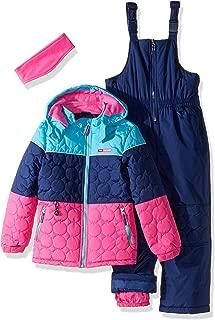 Pink Platinum Girls' Circle Quilted Better Snowsuit