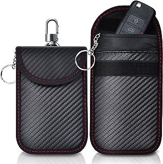 2-pack Faraday-tas | Autosleutel Signaalblokkering Zakje | Sleutelloze autosleutelset | RFID-blokkeertas voor autobeveiliging