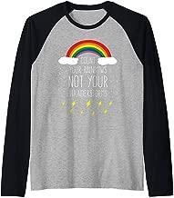 Count Your Rainbows Not Your Thunderstorms Positive Saying Raglan Baseball Tee