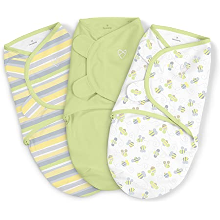 SwaddleMe Original Swaddle – Size Small, 0-3 Months, 3-Pack (Busy Bees)