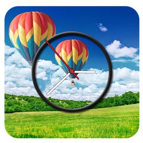 Sky Baloon Clock Live Wallpaper