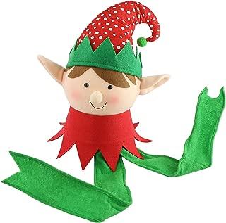 Athoinsu Adorable Christmas Elf Tree Topper Xmas Ornament Colorful XmasTree Holiday Party Decoration, 16''