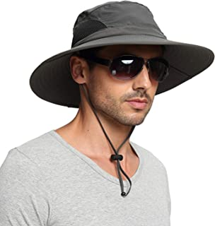 Breathable mesh Bucket Hat Wide Brim Cap Unisex Outdoor Boonie Sun Protection Hat for Travel Camping Hiking Fishing Hunting Boating Safari Hat with Adjustable Drawstring