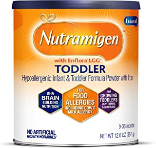 Enfamil Nutramigen Hypoallergenic Baby Formula - Lactose Free Milk Powder, 12.6 Ounce - Omega 3 DHA, Probiotics for Digest...