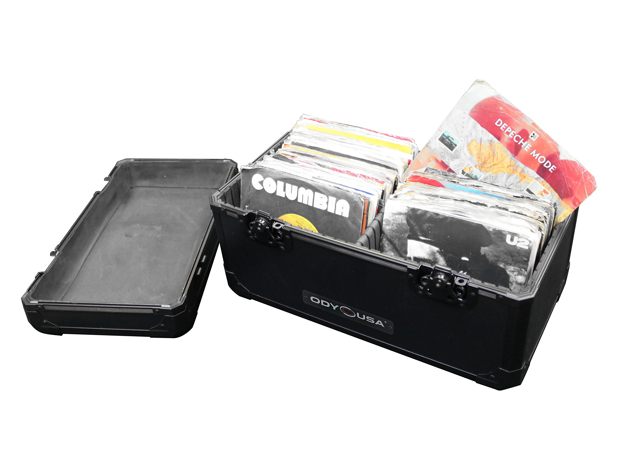 Caja para discos de vinilo K45120BL, serie Krom, color negro, de ...