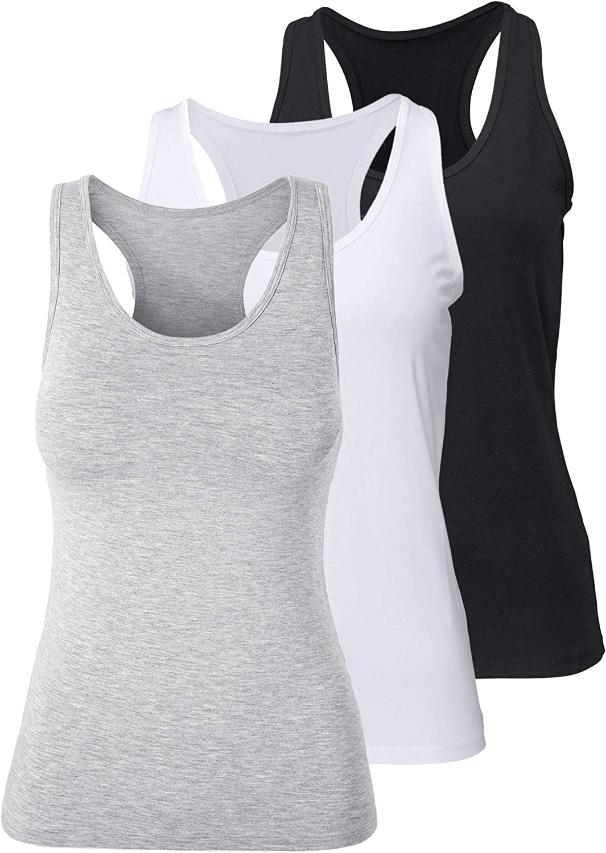 Women's Racerback Tank Tops for Women Yoga Tank Tops Activewear Running Gym Sleeveless Exercise Shirts Basic Layer