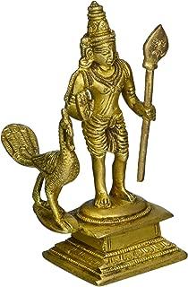 Gangesindia God Murugan Swami Miniature Brass Statue