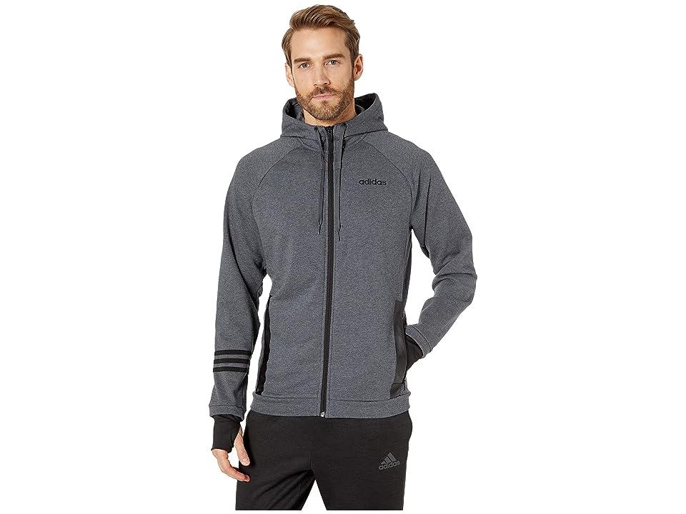 adidas Essentials Motion Pack Full-Zip Track Jacket (Dark Grey Heather) Men