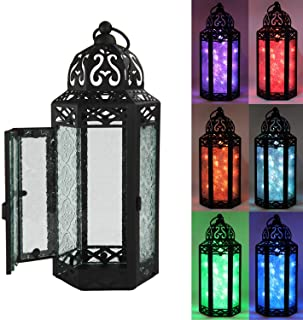 Decorative Lanterns with Color Changing LED Fairy Lights, Medium