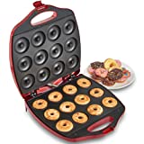 VonShef 12 Mini Donut Electric Maker Kit Set, Small Donut Snack Machine, RedVonShef 12 Mini Donut Electric Maker Kit Set, Small Donut S… by VonShef