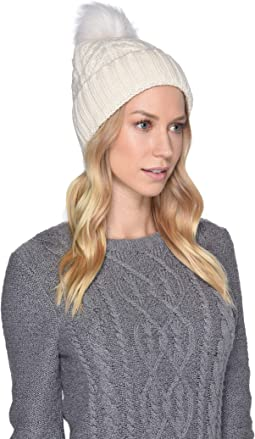 Cable Knit Pom Beanie