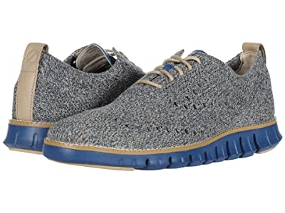 Cole Haan Zerogrand Stitchlite Oxford (Safari/Vintage Indigo Knit/True Blue) Men