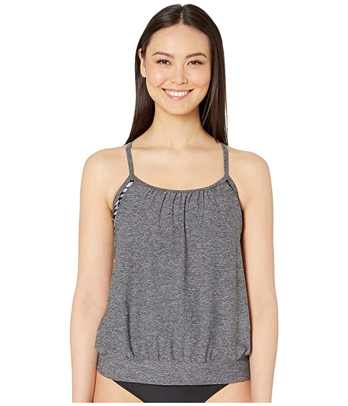Speedo Blouson Tankini (Grey) Women