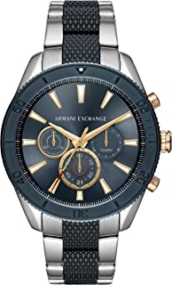 Armani Exchange Men's Chronograph Silver-Tone Stainless Steel Watch AX1815