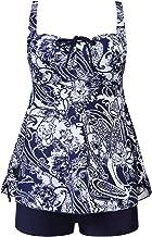 MOGGEI Plus Size Swimsuit for Women Tankini Swimwear Bathing Suit Swimwear Two Piece Design