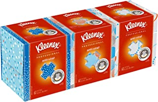 Kleenex Professional Anti-Viral Facial Tissue Cube for Business (21286), White, 3 Boxes/Bundle