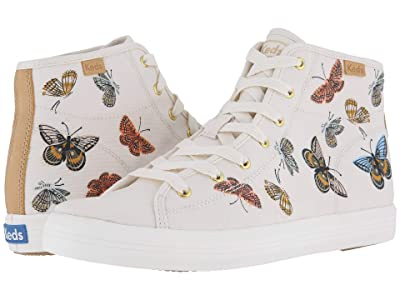 Keds x Rifle Paper Co. Kickstart Hi Monarch (Cream) Women