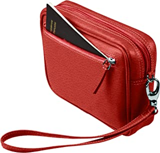 Lucrin - Traditional Belt Bag for Men - Granulated Cow - Leather - Red