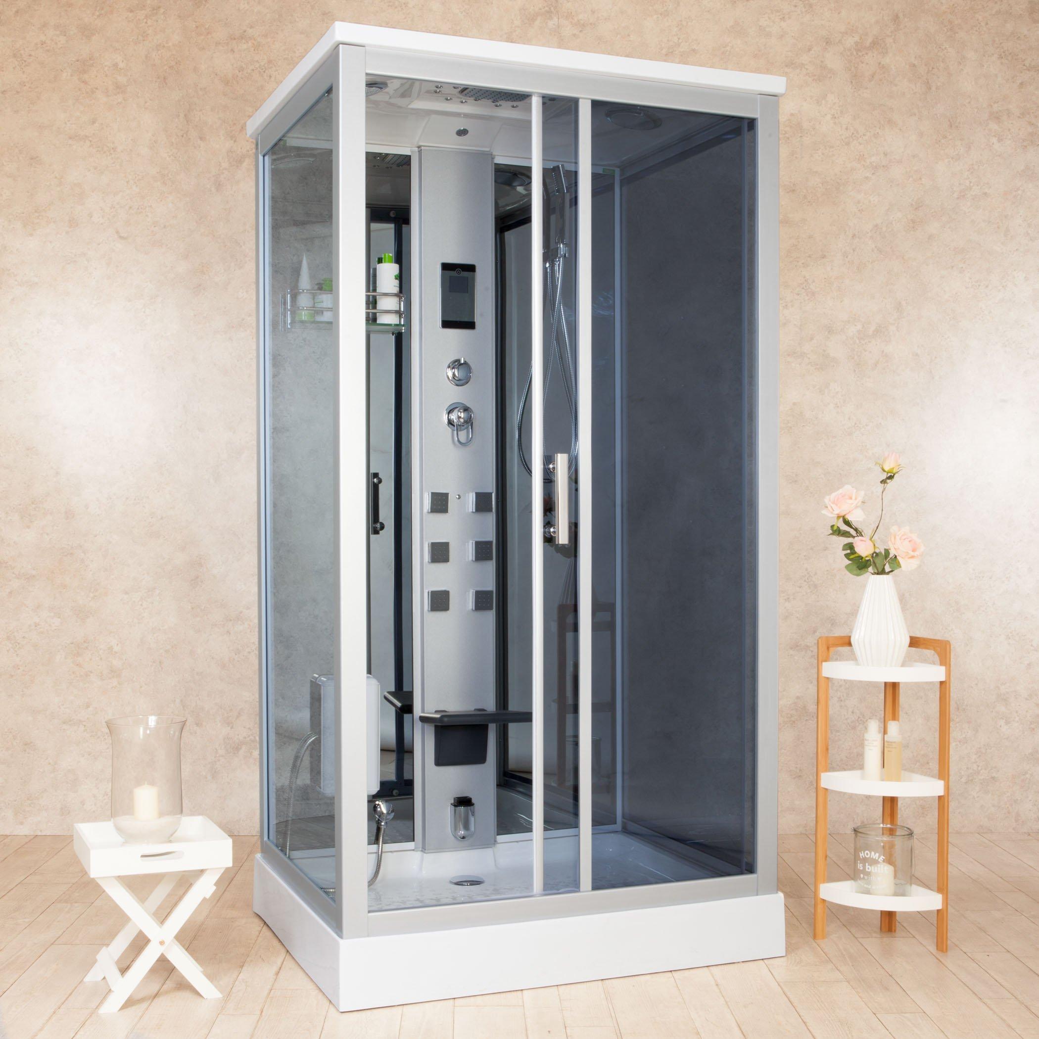 Box ducha hidromasaje Sauna y baño turco 110 x 90 cm vorich Element: Amazon.es: Hogar