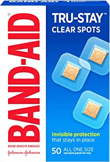 Band-Aid Brand Tru-Stay- نقاط خالص روشن باند را برای کمک به احتیاط اول ، همه اندازه یک ، 50 تعداد