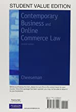 Contemporary Business and Online Commerce Law, Student Value Edition (7th Edition)