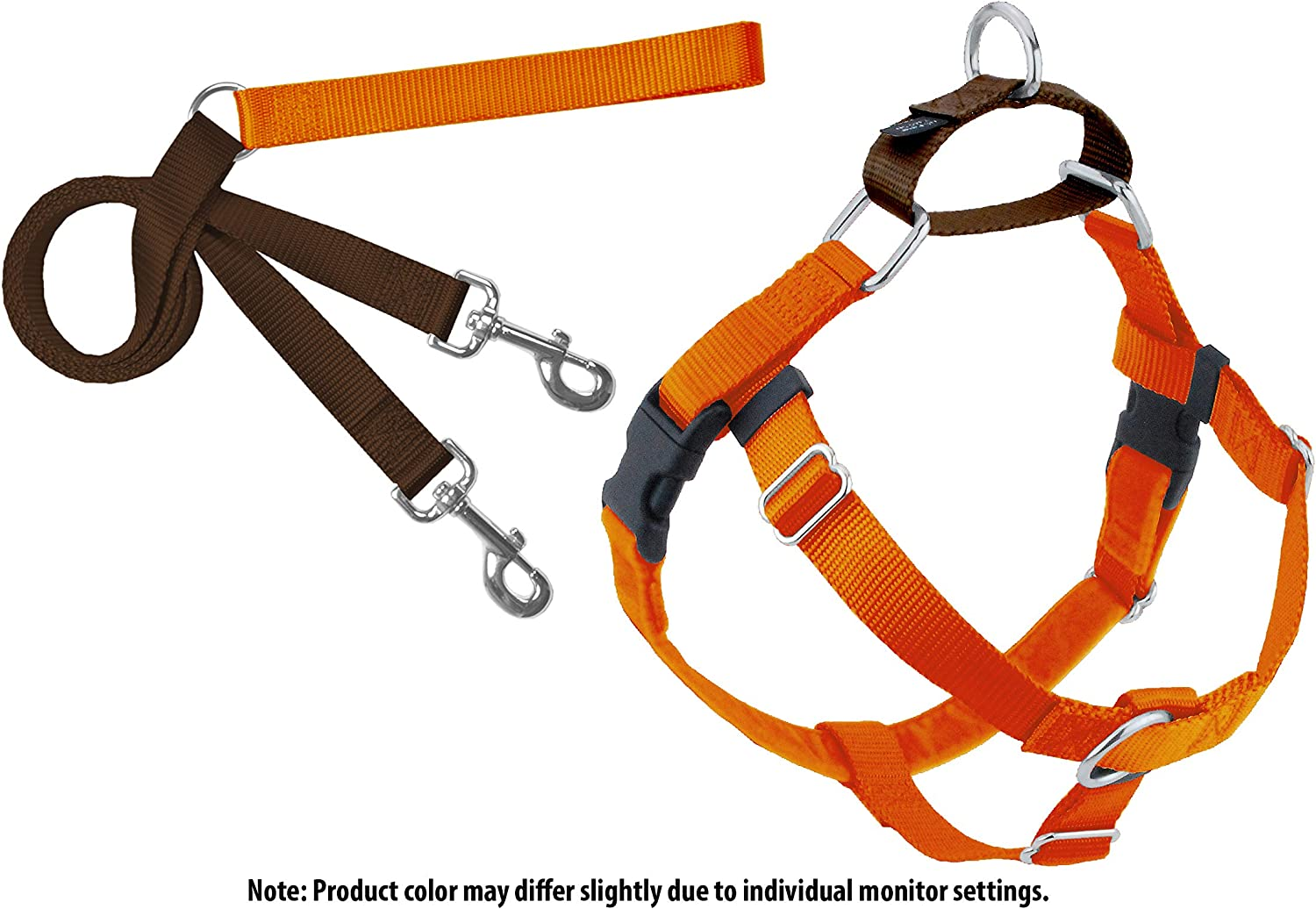 2 Hounds Design PK XL Rust Freedom NoPull Dog Harness with Leash, XLarge (1  Wide), Rust, XLarge