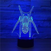 LBJZD Nachtlampje Spider Model Illusie 3D Lamp 7 Kleurverandering Led 3D Nachtlampje Kids Lamp Baby Slapen Verlichting Cre...