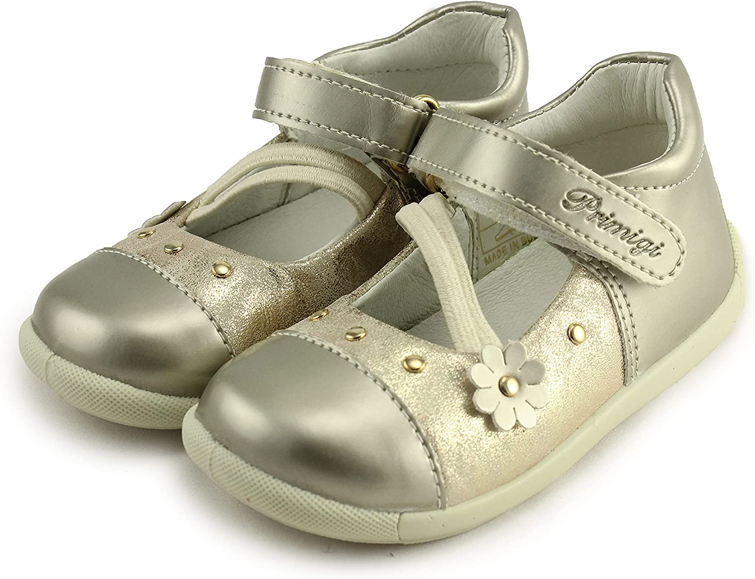 Primigi Girls Mary Jane Leather Shoes with Arch, Ankle, and Orthopedic Support (7582/00 S. Vern/S.Lam.Nu)