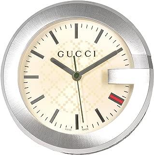 GUCCI YC210005 グッチ テーブルウォッチ ステンレス×レザー 置時計 ベージュ×ブラウン×シルバー【並行輸入】