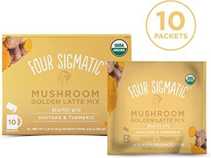 FOUR SIGMATIC Mushroom Golden Latte Mix, 1 x 10 Count