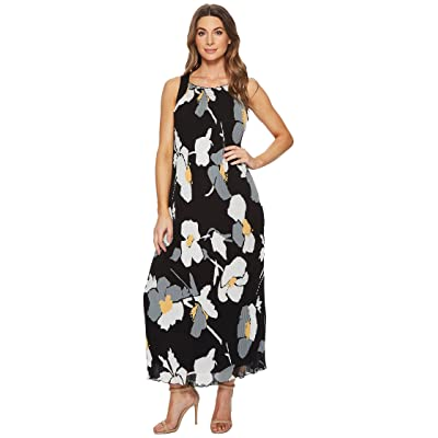CATHERINE Catherine Malandrino Delphine Strap Back Pleated Maxi Dress (Oversized Floral Banana) Women