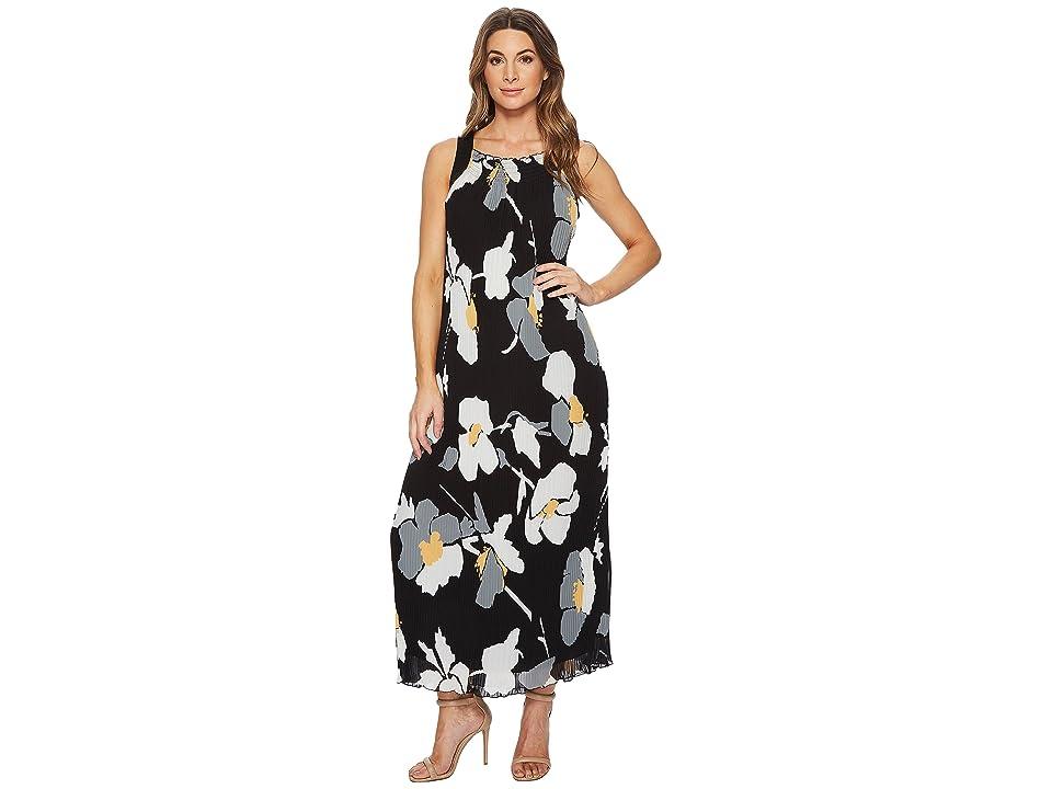 CATHERINE Catherine Malandrino Delphine Strap Back Pleated Maxi Dress (Oversized Floral Banana) Women