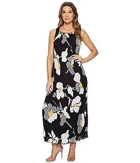 Delphine Strap Back Pleated Maxi Dress