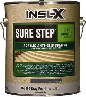COMPLEMENTARY COATINGS SU0308092-01 INSL-X Sure Step Acrylic Gray Pearl Anti-Slip Concrete Coating, 1-Gallon, 1 Gallon,
