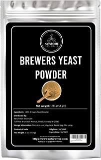 Naturevibe Botanicals Brewers Yeast Powder 1lb   Gluten Free   Great for Breastfeeding Mothers   Add to cookies as lactati...