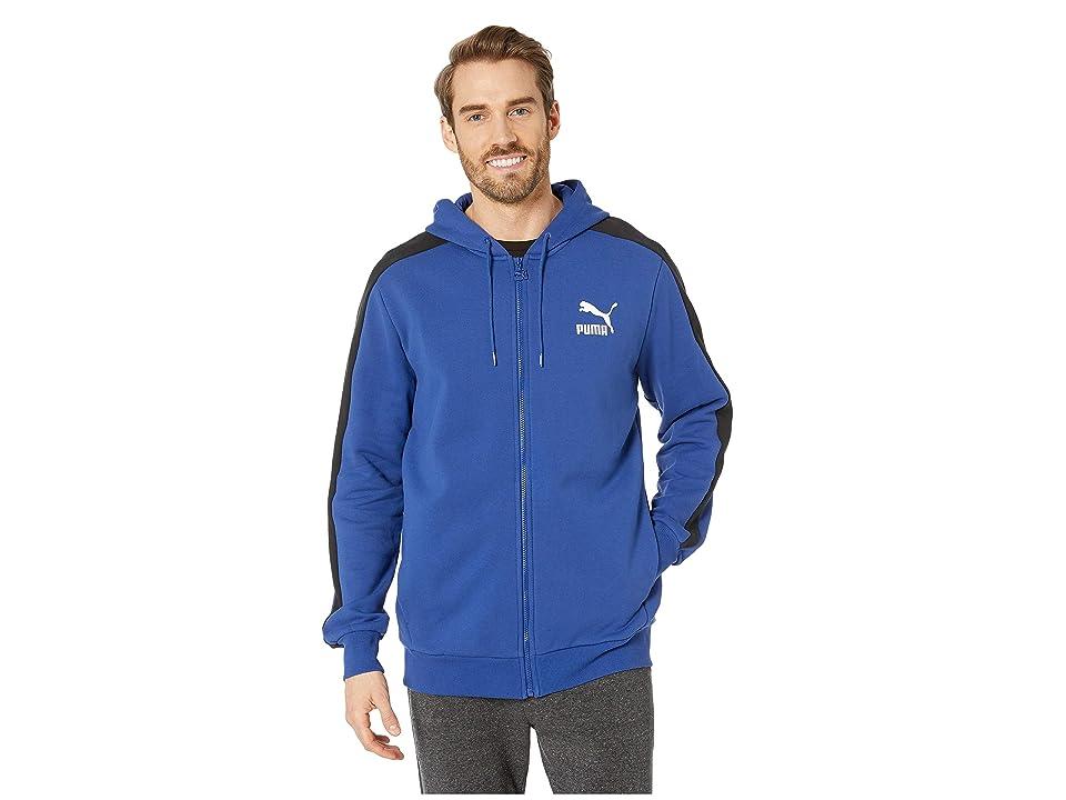 PUMA Classics T7 Logo Full Zip Hoodie Fleece (Sodalite Blue) Men