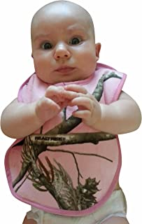 Realtree Pink Camo Baby Bib, One Size Adjusts to Fit Babies-Toddlers